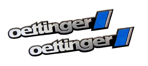 2 x (Pair / Set) Oettinger Aluminum Engine Hood Emblem Badge Nameplate for Volkswagen VW Golf 5 6 7 Jetta 4 5 6 Amarok Bora Eos Polo Scirocco New Beetle Passatt CC 3C 3B 3BG Tiguan Touareg Touran Sharan Caddy Life Bus T5 (Oettinger Emblem compare prices)
