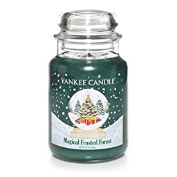 1 X Magical Frosted Forest Yankee Candle 22oz. Jar by Yankee Candle