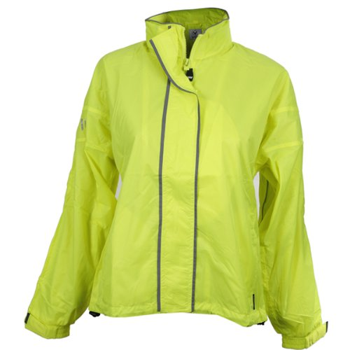 Viga Cyclone Womens Fluorescent Waterproof Running / Cycling Jacket rrp£50
