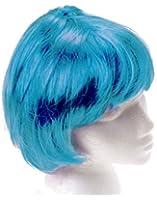 US Toy - Mod Girl Blue Bob Wig - Avail. In Purple/Orange/Green/Hot Pink