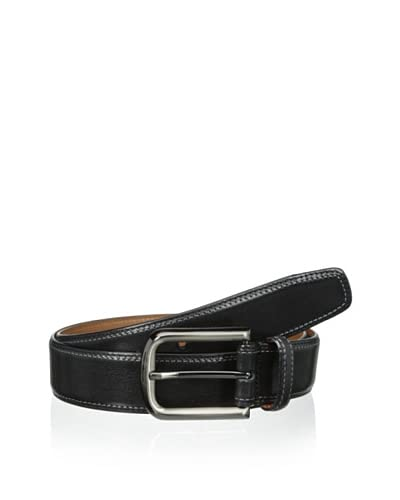 J. Campbell Los Angeles Men's Stitched Leather Belt