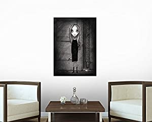 Lulu with Knife Wall Decal - 30 Inches H x 22 Inches W - Peel and Stick Removable Graphic