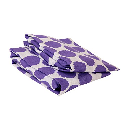 Bacati Ikat Purple Dots 2 Pc Muslin Crib Sheets