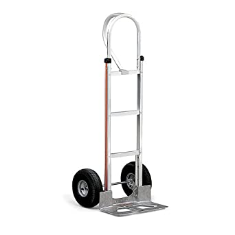 Magline HMK15AUA4 Aluminum Hand Truck, Vertical Loop Handle, Pneumatic Wheels, 500lbs Capacity