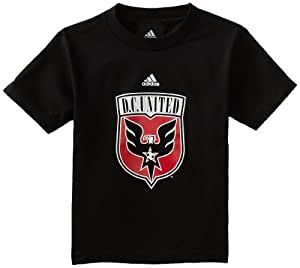 MLS DC United Short Sleeve 4-7 Boys T-Shirt (Black, 4 Small)