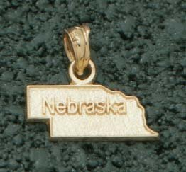 State of Nebraska Pendant - 10KT Gold Jewelry