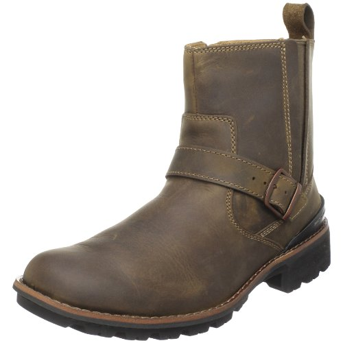 Clarks Men's Chilton Side-Zip Buckle Boot,Tan,11.5
