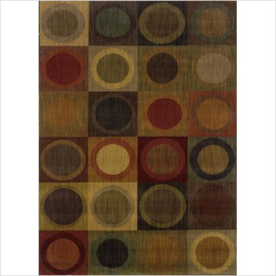 "Oriental Weavers Sphinx 53A Transitional Allure Green / Red Contemporary Rug Size: 7'8"" Round"