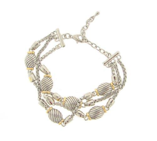 Designer Inspired Triple Strand Bracelet