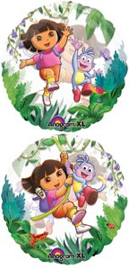 "Dora 26"" 2-sided See Thru Balloon - 1"