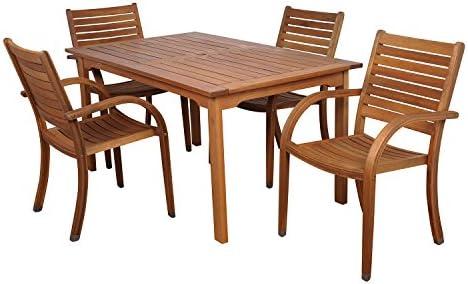 Amazonia 5-Pc. Rectangular Dining Set