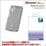 Xperia acro専用クリアケース/ブラック