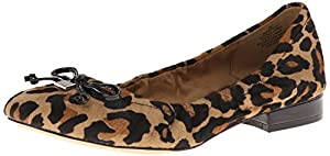 AK Anne Klein Women's Petrica Pony Ballet Flat, Natural, 5.5 M US