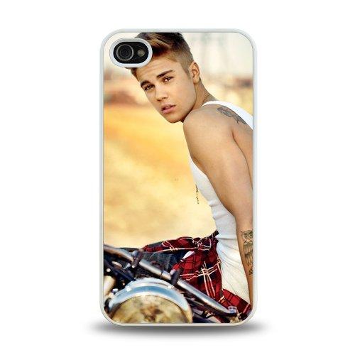 Pop Star Justin Bieber Cool Design #3 Matt Feel Hard Plastic Iphone 4 4S Case Protective Skin Cover