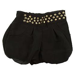 Little Kangaroos Girls Black Shorts (8903208876508_Black_3-4 Years)