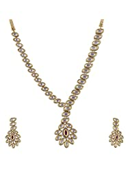 Ashapura Gold Plated Necklace With Dangle & Drop Earrings For Women - N0215
