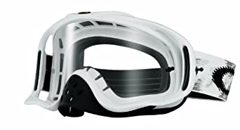 Oakley Crowbar MX Goggles (Matte White, One Size)