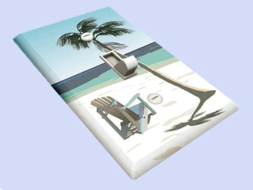 Beach Chair Under Palm Tree Decorative Switchplate Cover