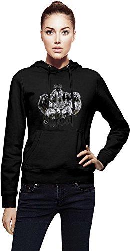 Slipknot Illustration Cappuccio da donna Women Jacket with Hoodie Stylish Fashion Fit Custom Apparel By Genuine Fan Merchandise Small