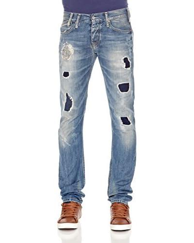 Pepe Jeans London Vaquero Ledger Azul Medio
