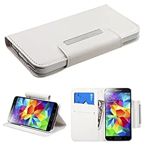 MyBat Samsung Galaxy S5 Book Style MyJacket Wallet with Card Slot 717 - Retail Packaging - White