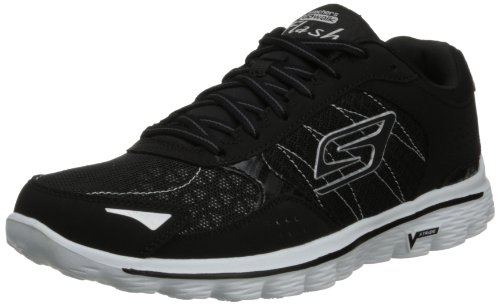 Skechers - Sandali outdoor Go Walk 2 Flash Donna, Nero (Black/White), 37 (4 UK)