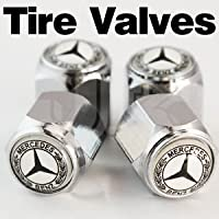 Mercedes Logo (lettering around the logo) Tire Valve Stem Caps set of 4 from JP