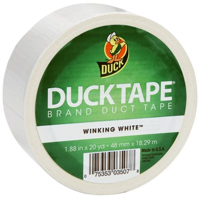 Duck Brand 392873 White Color Duct Tape, 1.88-Inch by 20 Yards, Single Roll