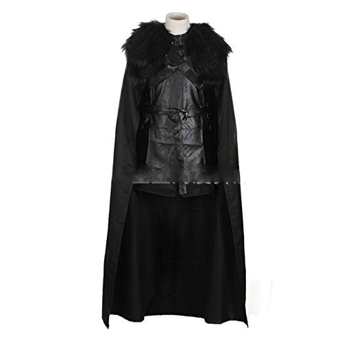 [Game of Thrones Jon Snow the Night Watch Costume Halloween Party Cosplay the Song of Ice and Fire] (Man Of The Nights Watch Costume)