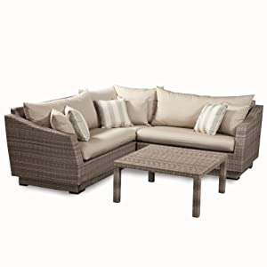 Amazon RST Brands 4 Piece Cannes Sectional and