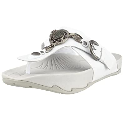 Earth Exer-luxe Women's Flip Flop  White