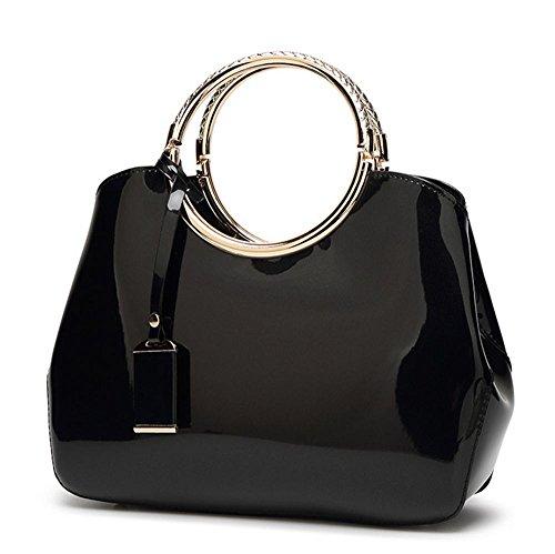 delle donne eleganti di Shell forma di design Borse Tote Sera borsa (28 * 10.5 * 22 centimetri) , black