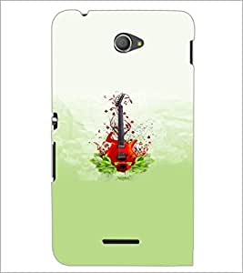 PrintDhaba Guitar D-5536 Back Case Cover for SONY XPERIA E4 (Multi-Coloured)