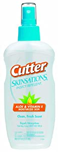 Cutter 54010 Skinsations 6-Ounce Insect Repellent Pump Spray 7-Percent DEET, Case Pack of 1