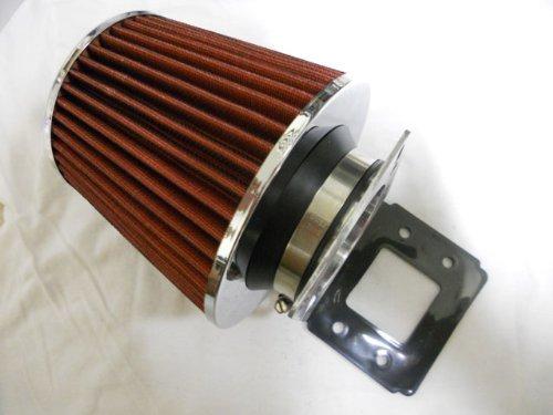 "93 94 95 96 97 98 99 00 01 02 03 04 Toyota T-100 / Tacoma Air Intake Filter MAF Adapter w/ 3"" K&N / KNN (Red) Filter"