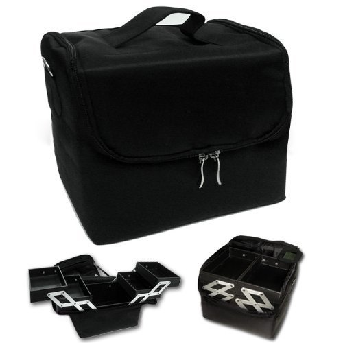Black Makeup Case (Extendable 4x Compartments) CODE: #340