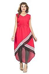 jay ambe fashion Pink western dress kurti top for women's