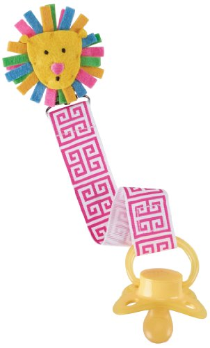 Mud Pie Pacy Clip, Pink Lion