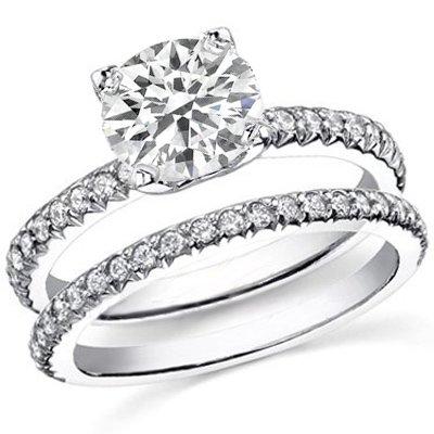 3.17 Ct. Round Cut Diamond Engagement Set G, VS2 (EGL Certified)