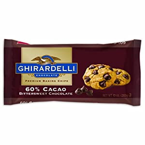 Ghirardelli Chocolate Baking Chips, 60% Cacao Bittersweet Chocolate, 10-Ounce Bags (Pack of 6)