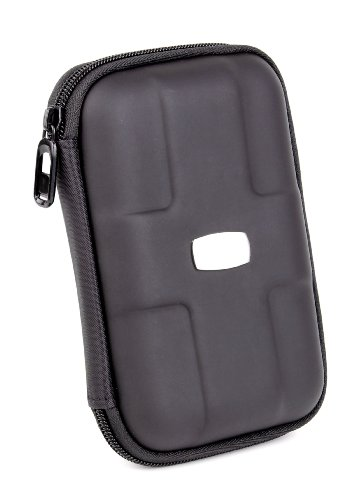 DURAGADGET Black Rigid Executive Heavy-Duty Protective Carry-Case For HDD Hard Drives