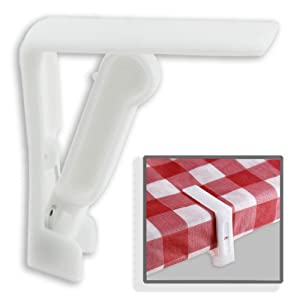 6pc Non-rust Picnic Tablecloth Clamp Set from fixfind