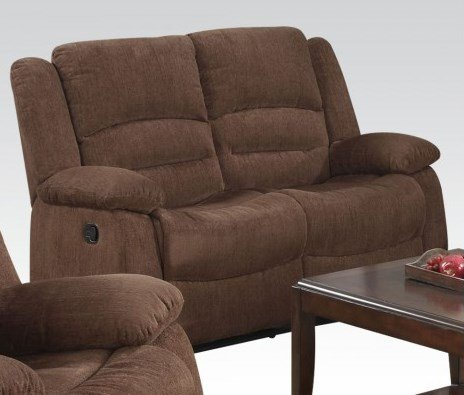 Bailey Dark Brown Chenille Loveseat by Acme Furniture