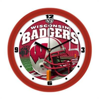 Wisconsin Badgers NCAA Football Helmet Wall Clock