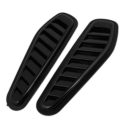 2 Pcs Black Plastic Car Engine Hood Air Scoop Vent Side Fender Cover (Black Car Hood compare prices)