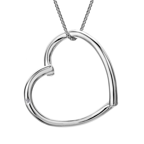 Hot Diamonds Just Add Love Maxi Silver and Diamond Pendant 40.5 cm + 5.5 cm extender