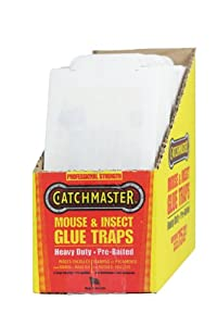 Catchmaster 75M Pro Series Bulk Econo Mouse & Insect Glue Boards, 75-Pack