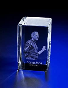 New Unique Steve Jobs Memorial Crystal Rectangle Paperweight