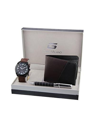 GINO MILANO Reloj de cuarzo + Cartera + Bolígrafo MWF14-061 46 mm
