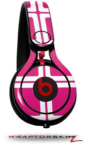 Squared Fushia Hot Pink Decal Style Skin (Fits Genuine Beats Mixr Headphones - Headphones Not Included)